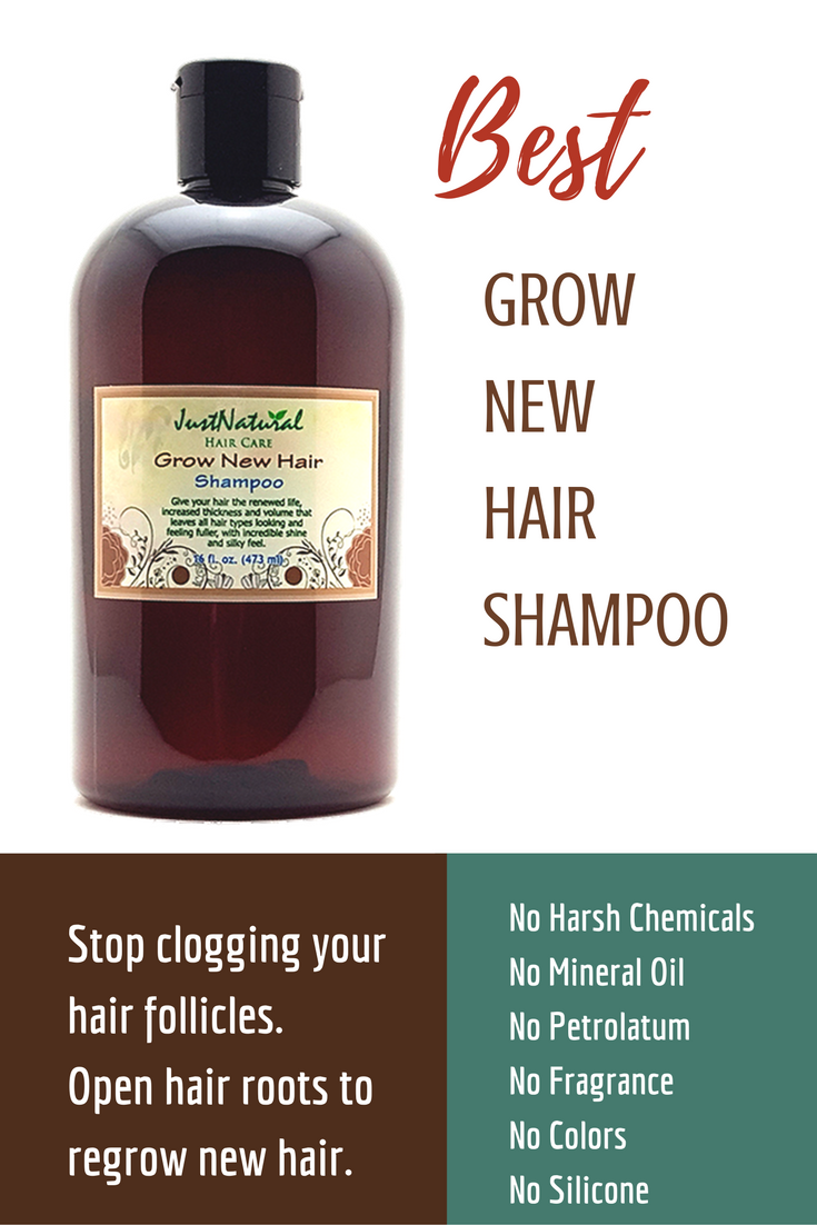 Grow New Hair Shampoo / Powerful, SAFE and gentle without