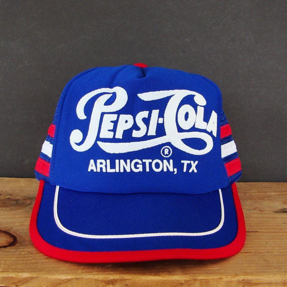 9d8ca67f9eac7 UNWORN VTG Pepsi Cola Mesh Snapback Hat Distributor Trucker Cap TEXAS Snap  Back  PepsiCola
