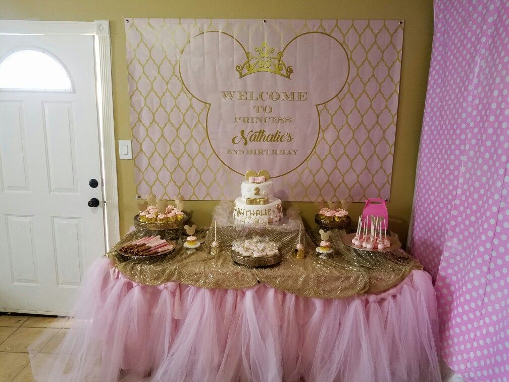 Pink And Gold Minnie Mouse Dessert Table Message Me For Details Minnie Mouse Pink Minnie Mouse Birthday Minnie Mouse Baby Shower