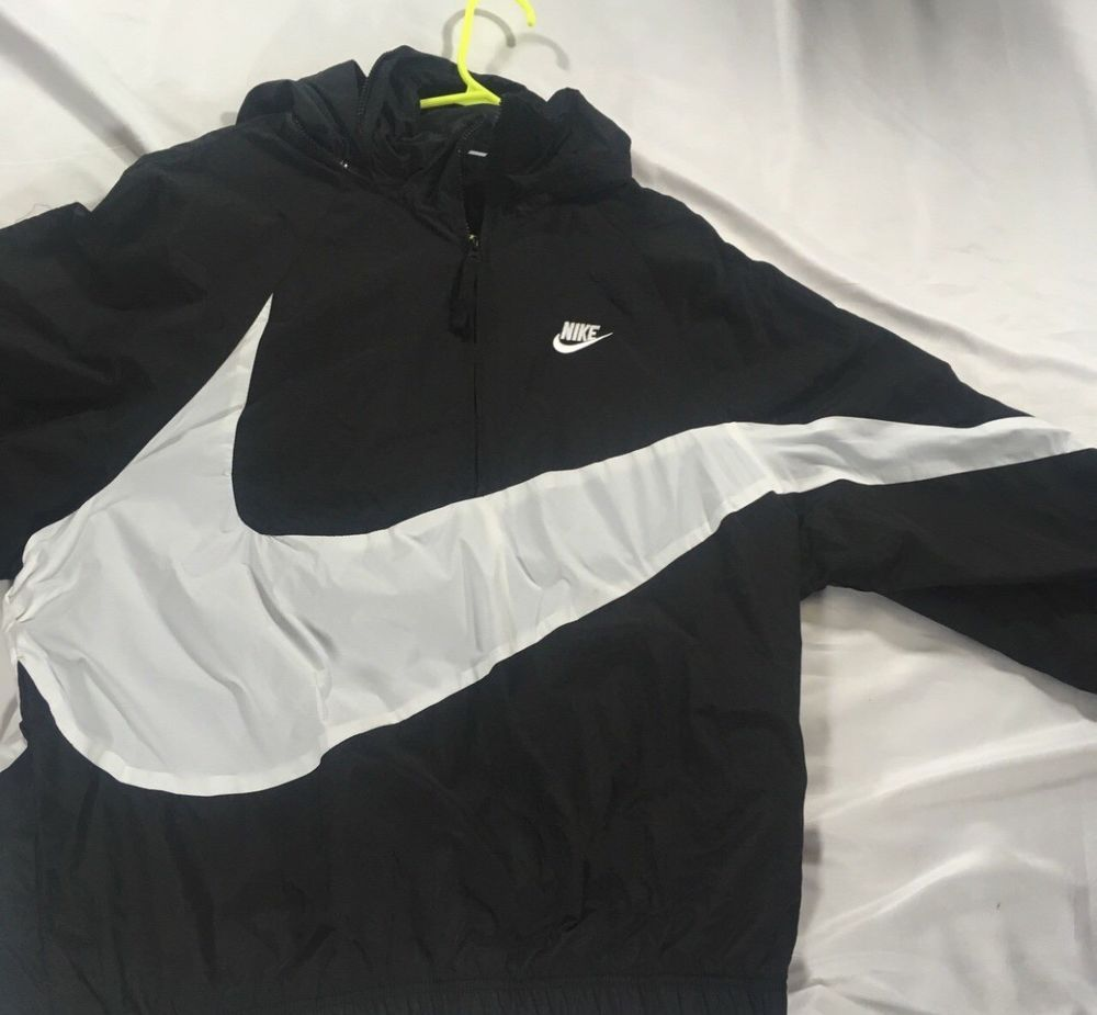 Nike Big Swoosh Windbreaker Brand New With Tags Fashion Clothing Shoes Accessories Mensclothing Coatsjackets Ebay Link Nike Fashion Coats Jackets