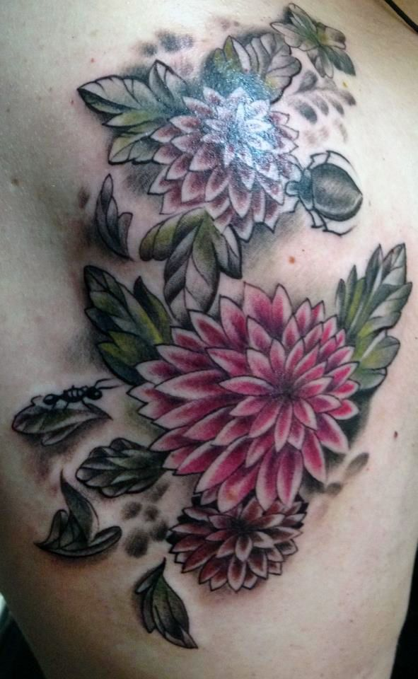 dahlia tattoo meaning picture | kat dahlia tattoos | pinterest