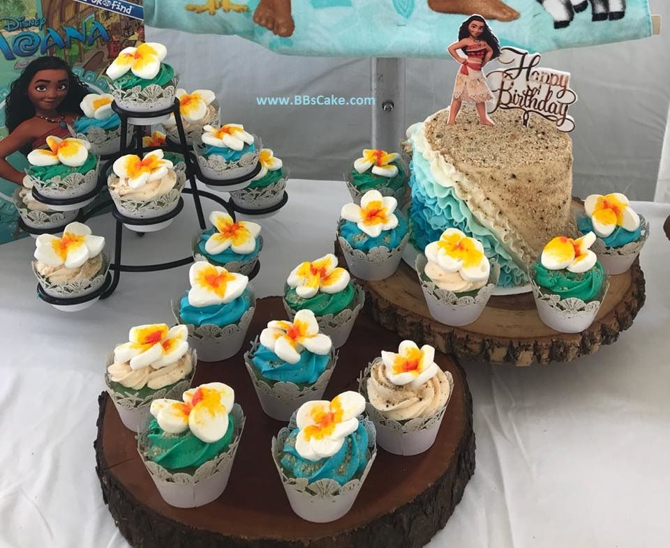 Moana Cupcakes And Birthday Cake Moana Birthday Cake Moana Birthday Themed Birthday Cakes