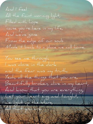 One Of My Favorite Songs All That You Are By The Goo Dolls I Took This Photo Night Before Met Spencer