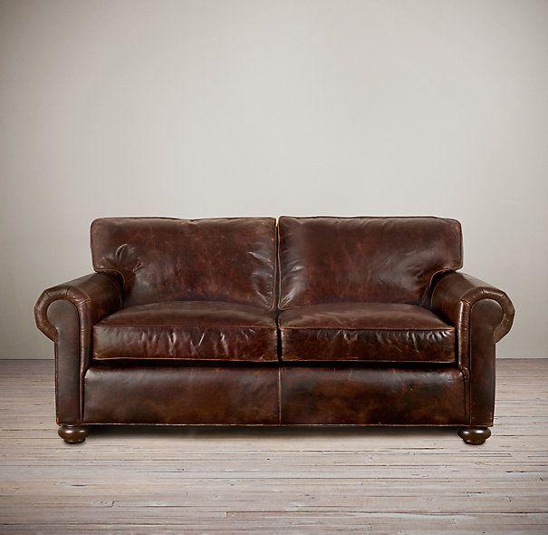 Restoration Harware Lancaster Leather Sofa In Luxe 49u0027u0027 Depth!! Heaven