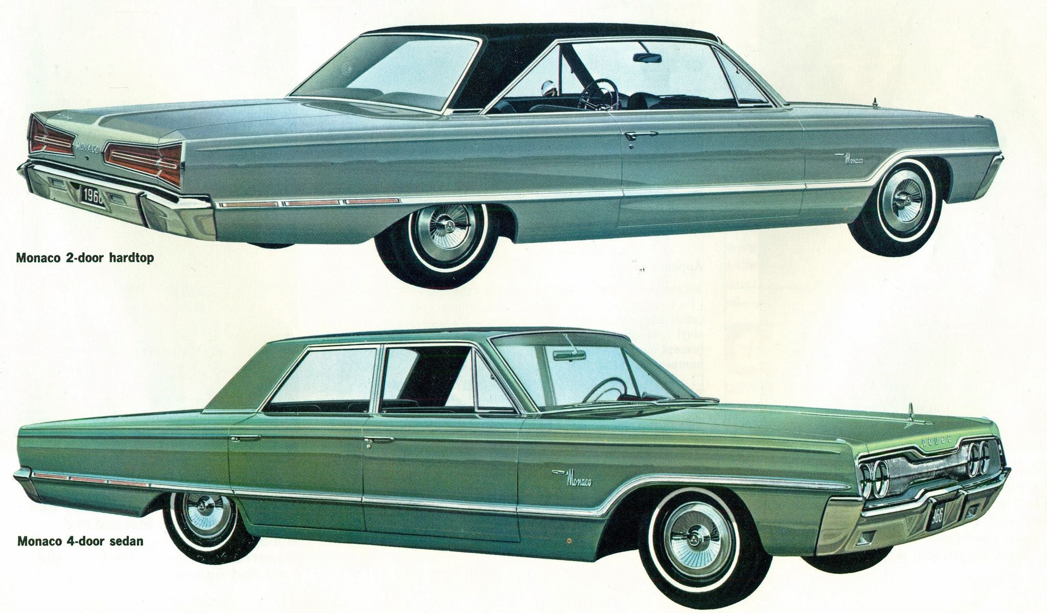 1966 dodge monaco 2 door hardtop and 4 door sedan sedans. Black Bedroom Furniture Sets. Home Design Ideas