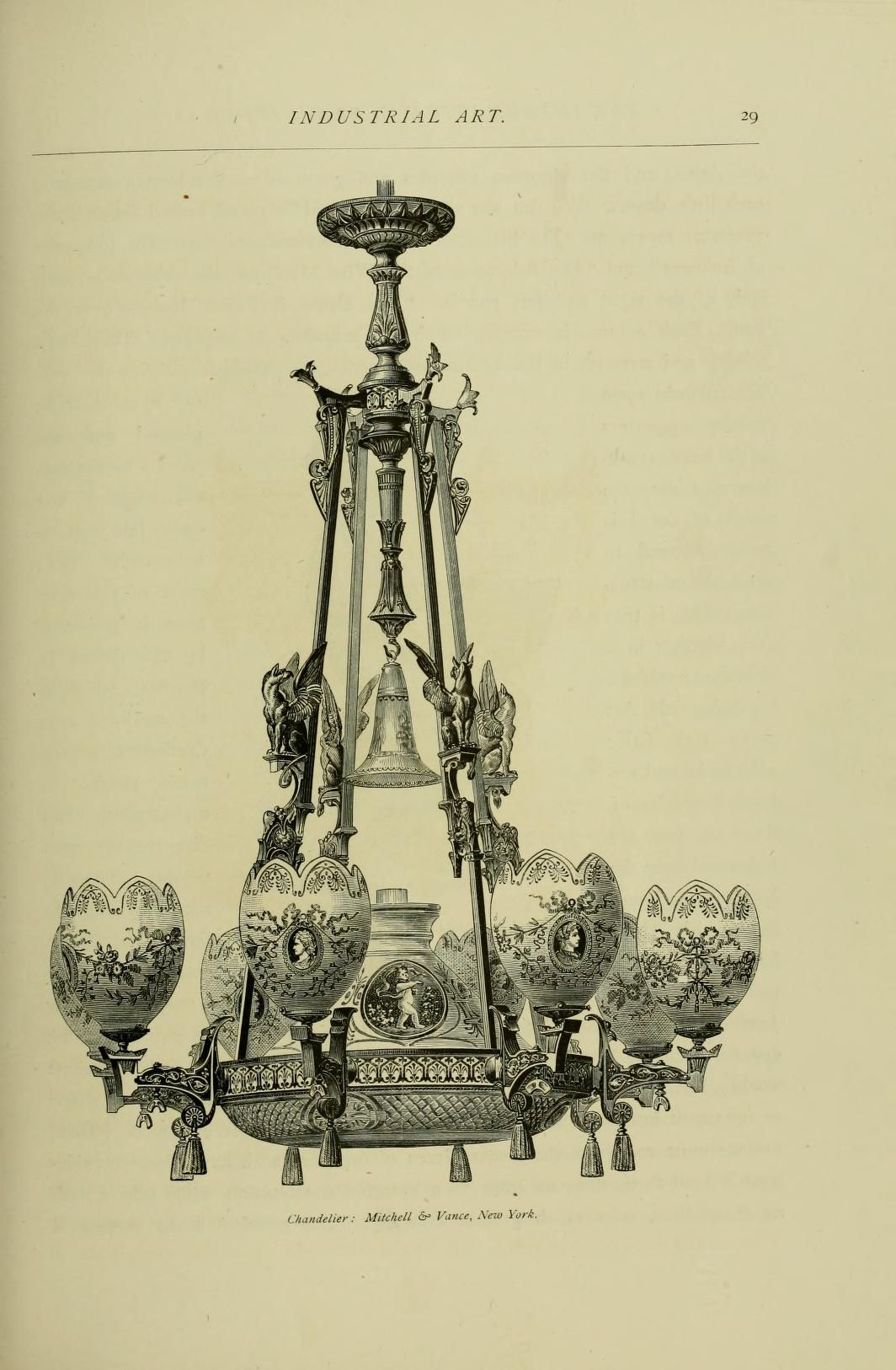 8 light Chandelier by Messrs. Mitchell & Vance of New York 1876
