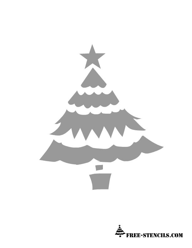 Printable Stencils Free Printable Christmas Tree Stencil