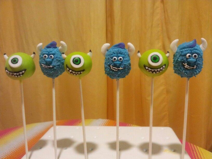Monsters Inc Cake Pops Monsters University Cake Pops Mike Wazowski