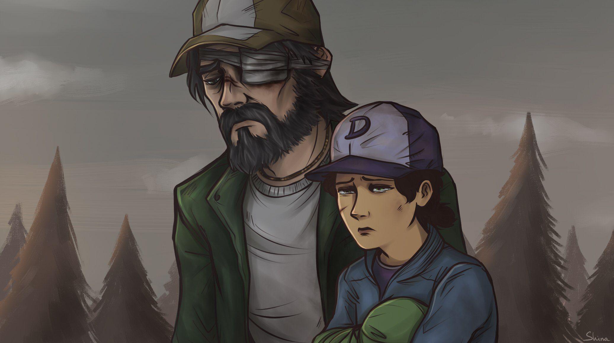Kenny Clem And Aj Walking Dead Game Walking Dead Season One Walking Dead Fan