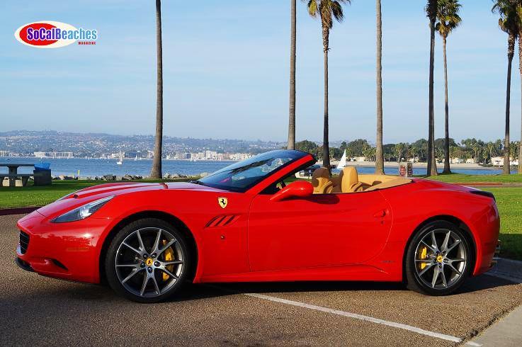 2 2012 Ferrari California convertible Mission Beach San