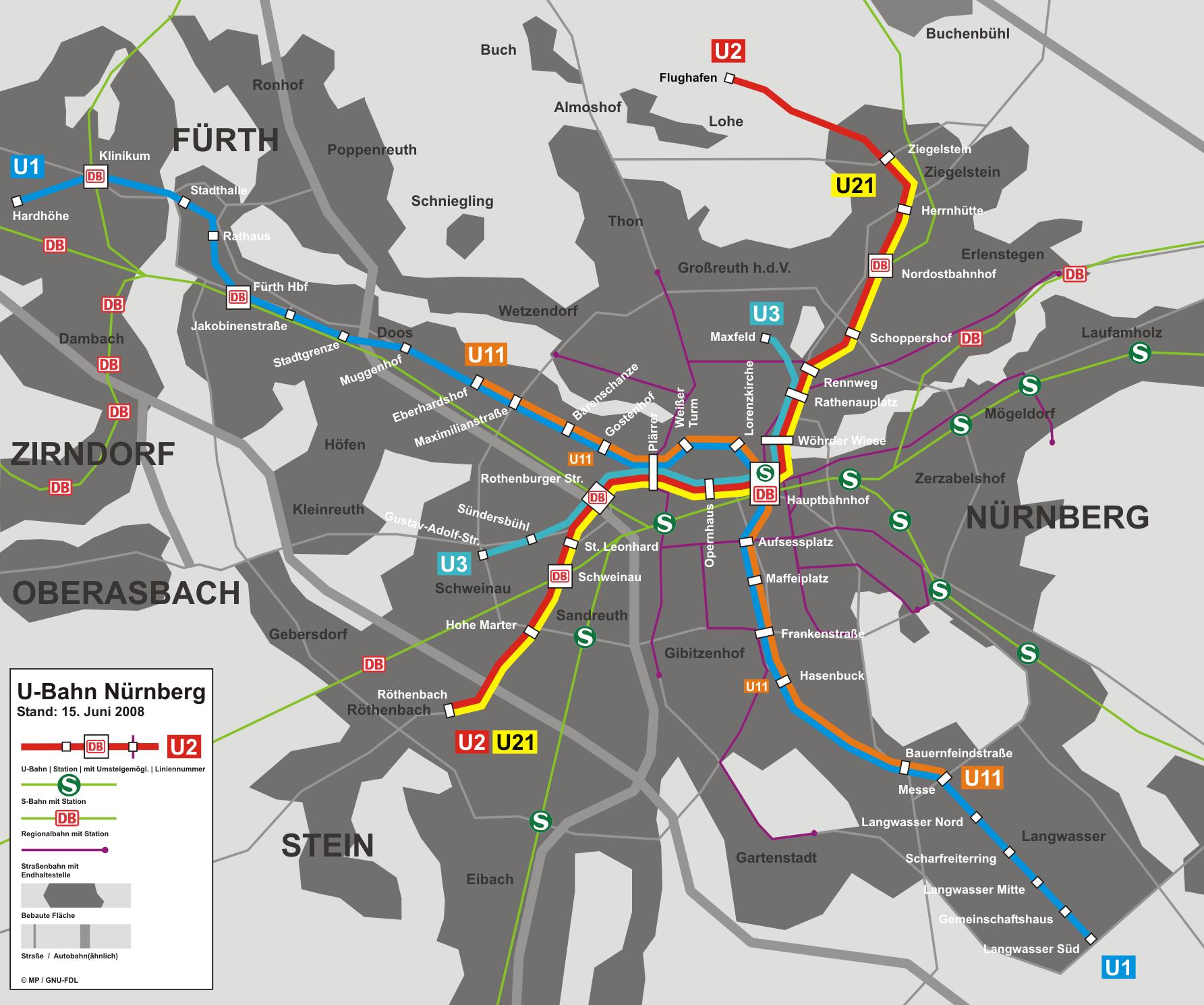 U-Bahn von Nürnberg   Metros, Undergrounds and Subways ...