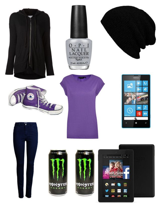 My Style by makaylla-alexander on Polyvore featuring Splendid, ONLY, OPI, Nokia and Converse