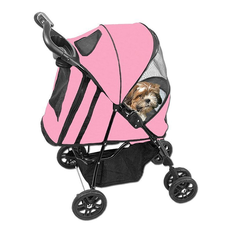 Pet Gear Happy Trails Stroller with Cover, Pink