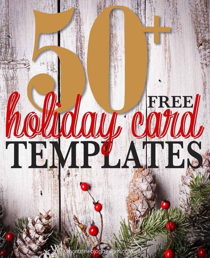 Free Holiday Photo Card Templates  Holiday Photo Cards