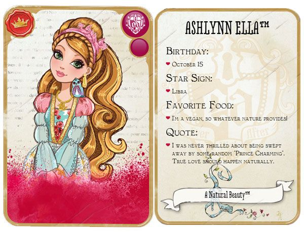 Ashlynn Ella Character | Ever After High | O - Ever After ...