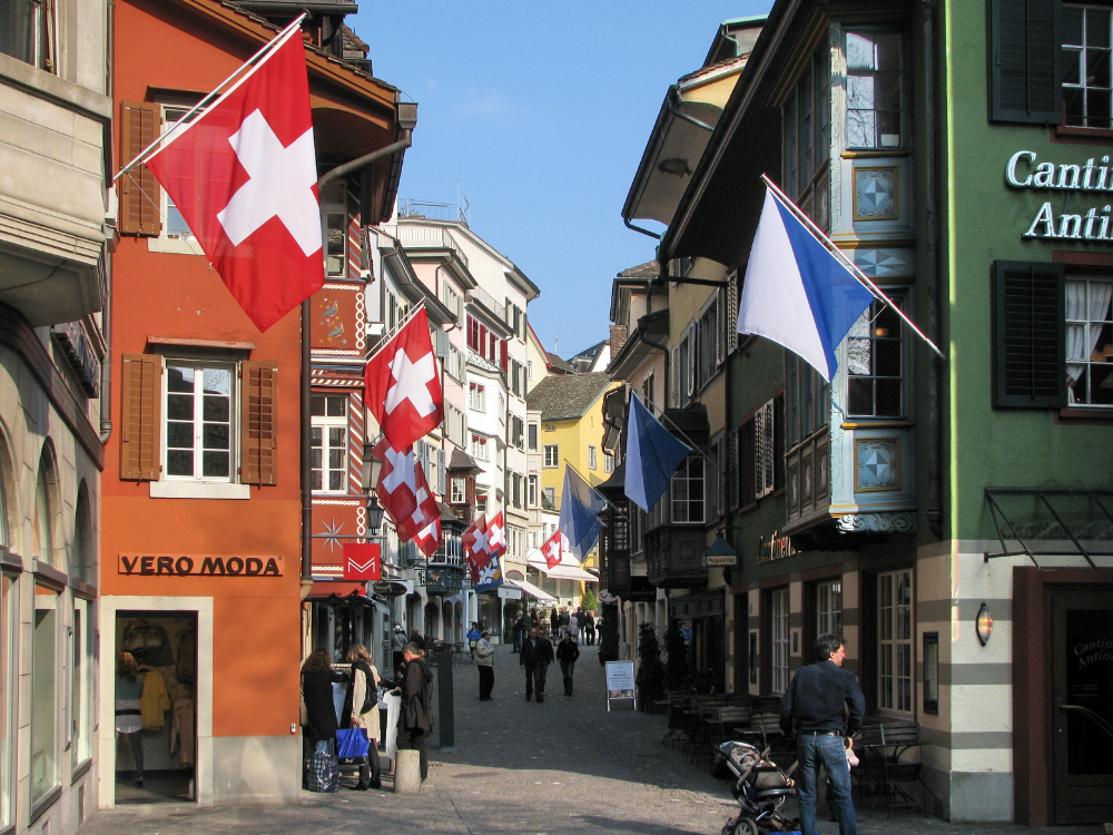Augustinergasse in the old town of Zürich. in 2020