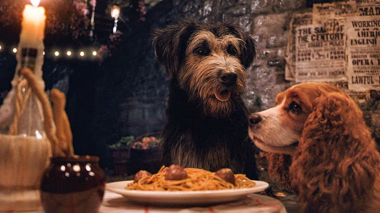 Tony S Famous Spaghetti Scene Lady And The Tramp 2019 Movie Clip Youtube Lady And The Tramp The Best Films Disney Ladies