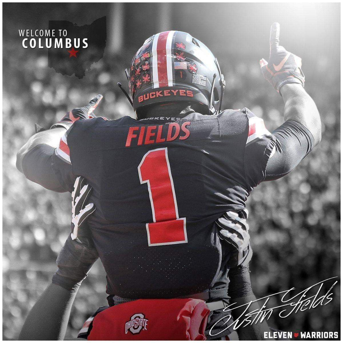 Justin Fields Qb Ohio State Football Players Ohio State Buckeyes Football Ohio State Wallpaper