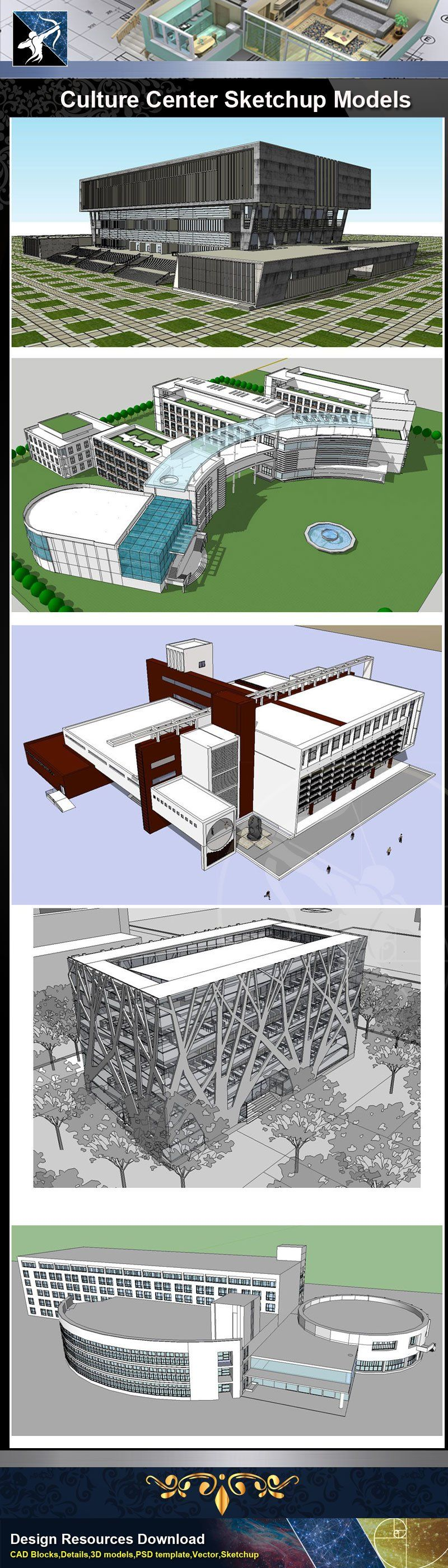 Download 13 Types Of Villa Sketchup 3D Models Recommanded