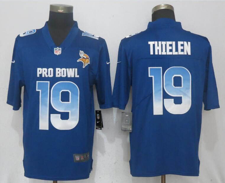 Men Minnesota Vikings 19 Thielen Blue New Nike Royal 2018 Pro Bowl Limited NFL  Jerseys d587f0147