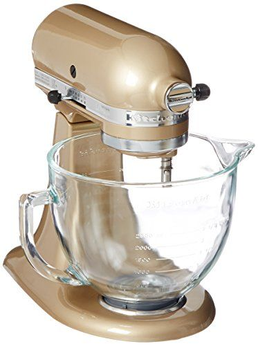 kitchenaid ksm155gbcz artisan design series glass bowl 5 quart rh pinterest com