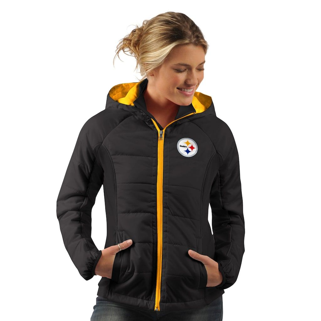 huge selection of e5f8d 274ba Women's Pittsburgh Steelers Run Down Puffer Jacket ...