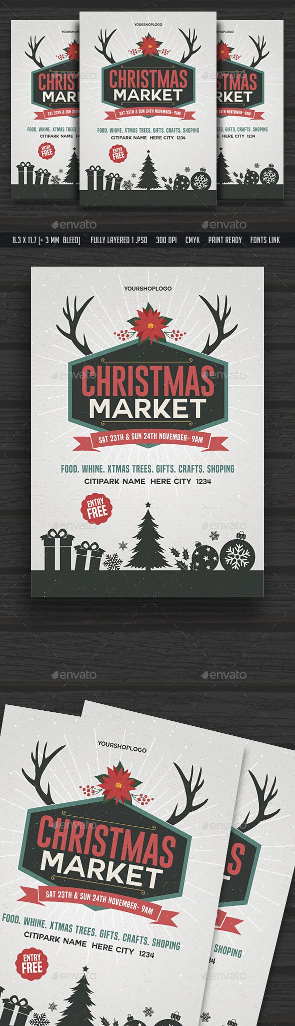 christmas parade flyer template
