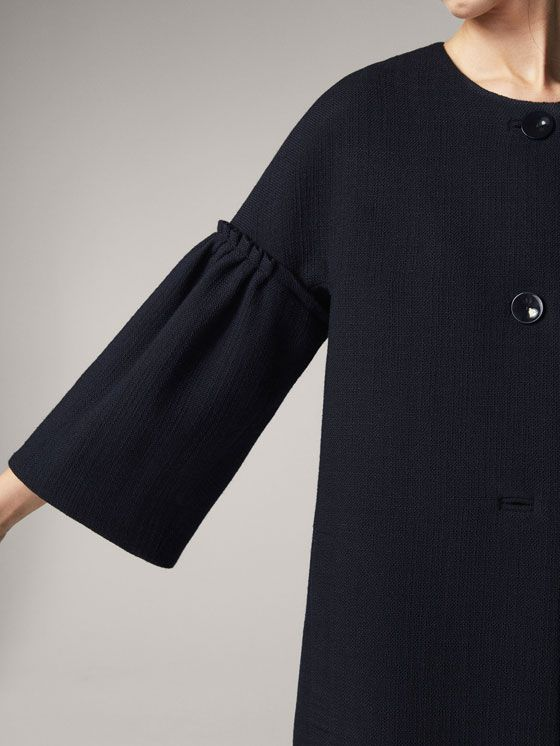 548e0d183e38 Spring summer 2017 Women´s WOOL COAT WITH TEXTURED WEAVE at Massimo Dutti  for 275. Effortless elegance!