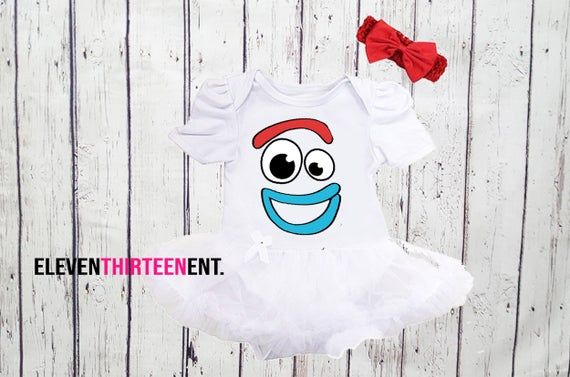 Forky Baby Girl Halloween Costumes - 2 Pc Toy Story Forky Inspired Tutu Dress Costume - Halloween Cosplay Set For Infant Newborn