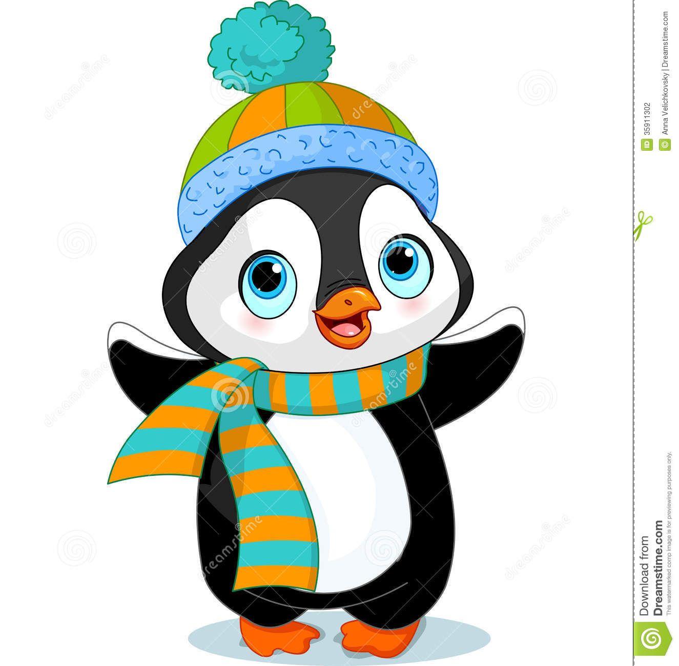 Winter Cartoon Clipart Clipart Kid Penguin cartoon