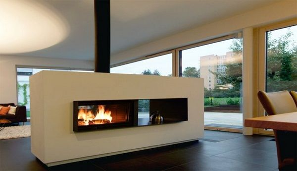 Contemporary Stoves Room Dividers Modern Functional Fireplace