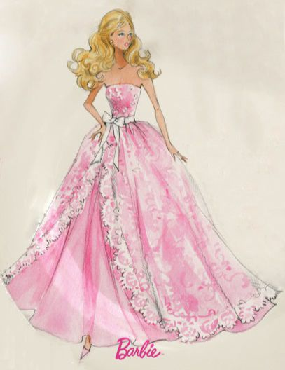 Barbie Sketch - Robert Best | Print For Emma~Roses New Room | Pinterest | Sketches Fashion ...