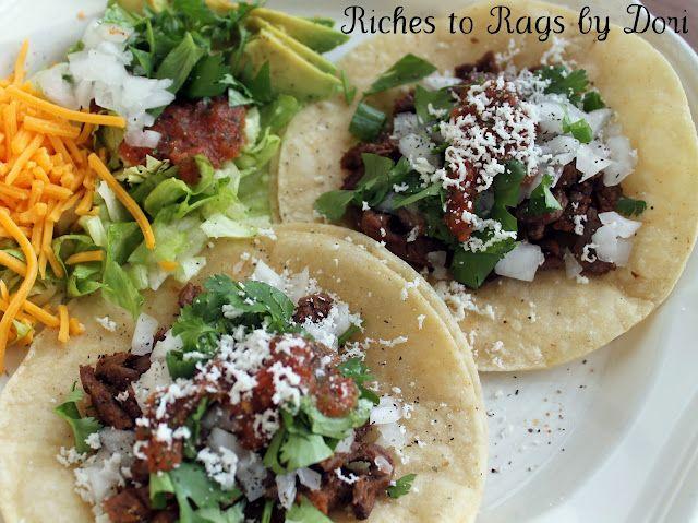 Homemade Carne Asada Tacos. These are delicious!