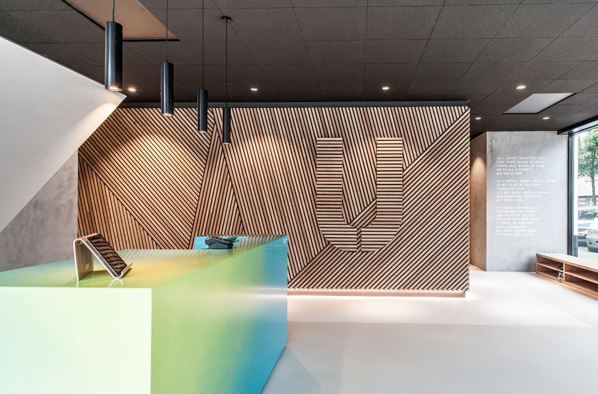 EQUAL - hot power yoga studio design by studio mokum and Kamiel van kessel