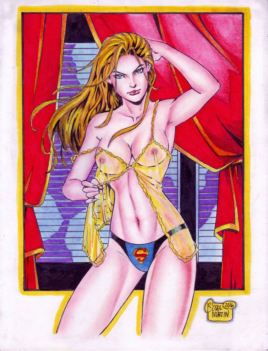 Supergirl (#31) -NUDE- by Rodel Martin by VMIFerrari