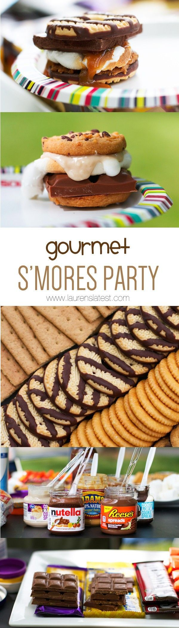Gourmet S'mores Bar Party, such a fun #SummerParty theme.