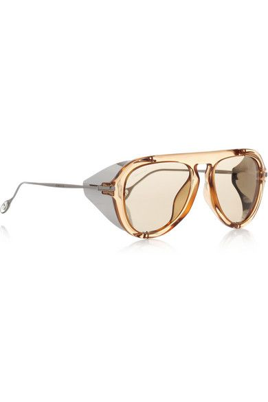 Gucci - Aviator-style acetate and metal sunglasses