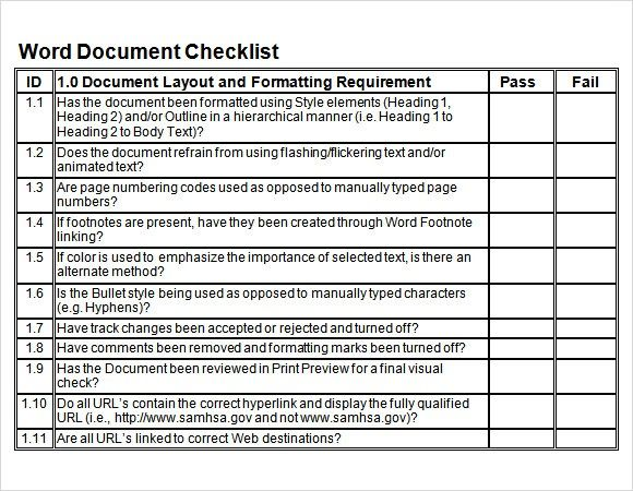 And while we're used to running from task to task in a flurry to get everythi. Sample Blank Checklist Template 27 Documents Download 35 Checklist Templates Free Sample Example Format 34 Word Ch Checklist Template Word Template Word Design