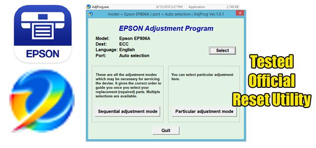 Epson Ep 806a Reset Utility Free Download Epson Epson Inkjet Printer Reset