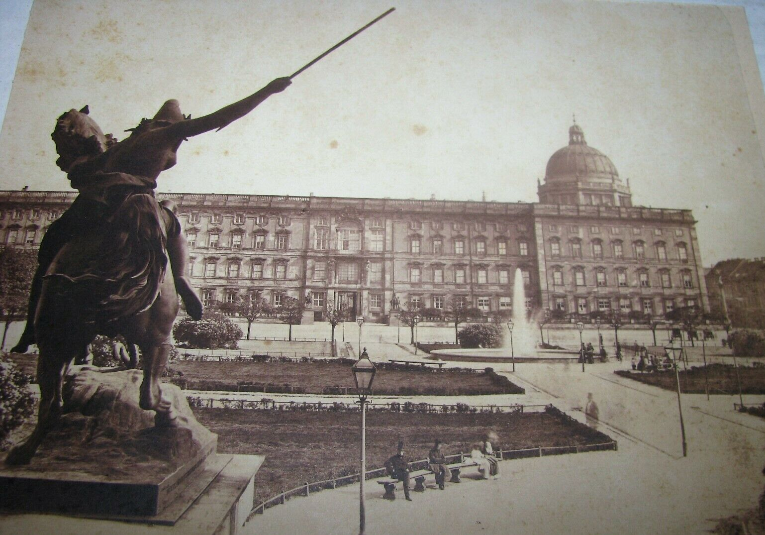 RARE 1850's Leopold Ahrendts Albumen Photograph of Berlin