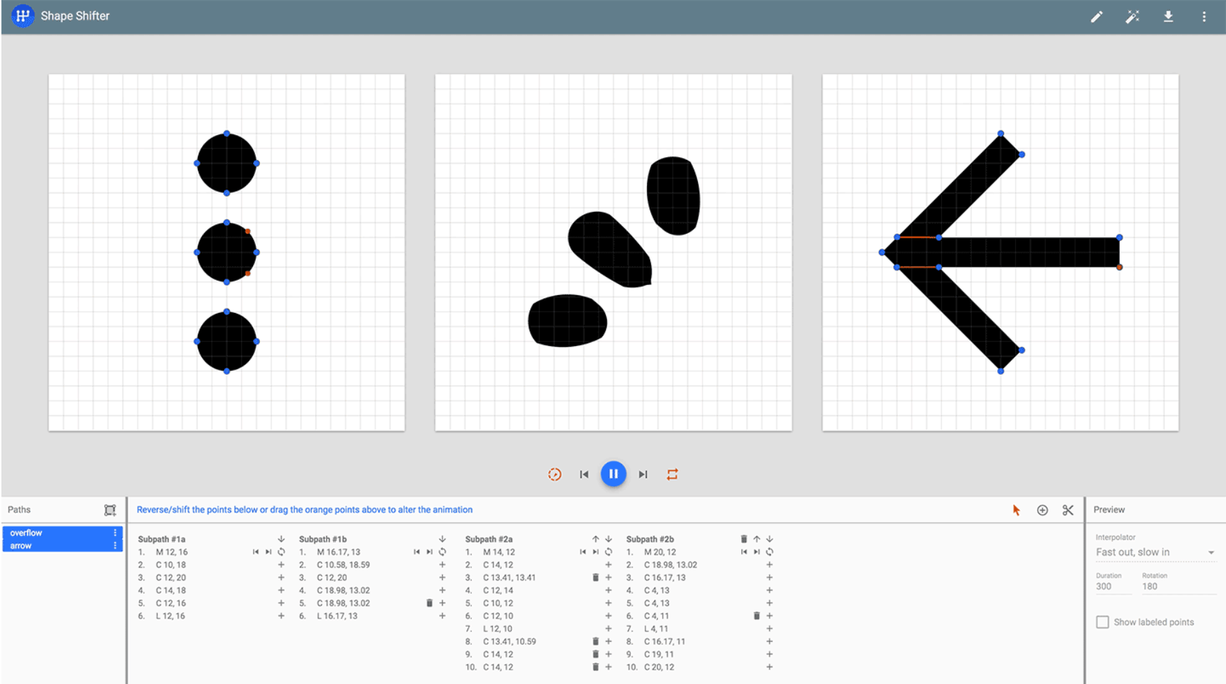 Shape Shifter Web App That Simplifies The Process Of Creating Svg Based Path Morphing Animations