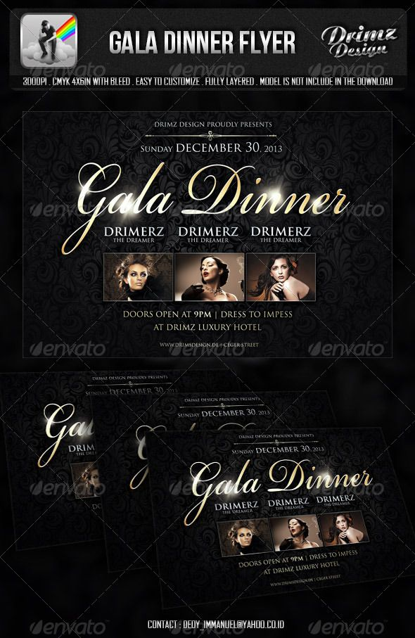 Gala Dinner Flyer  Gala Dinner Dinners And Fonts