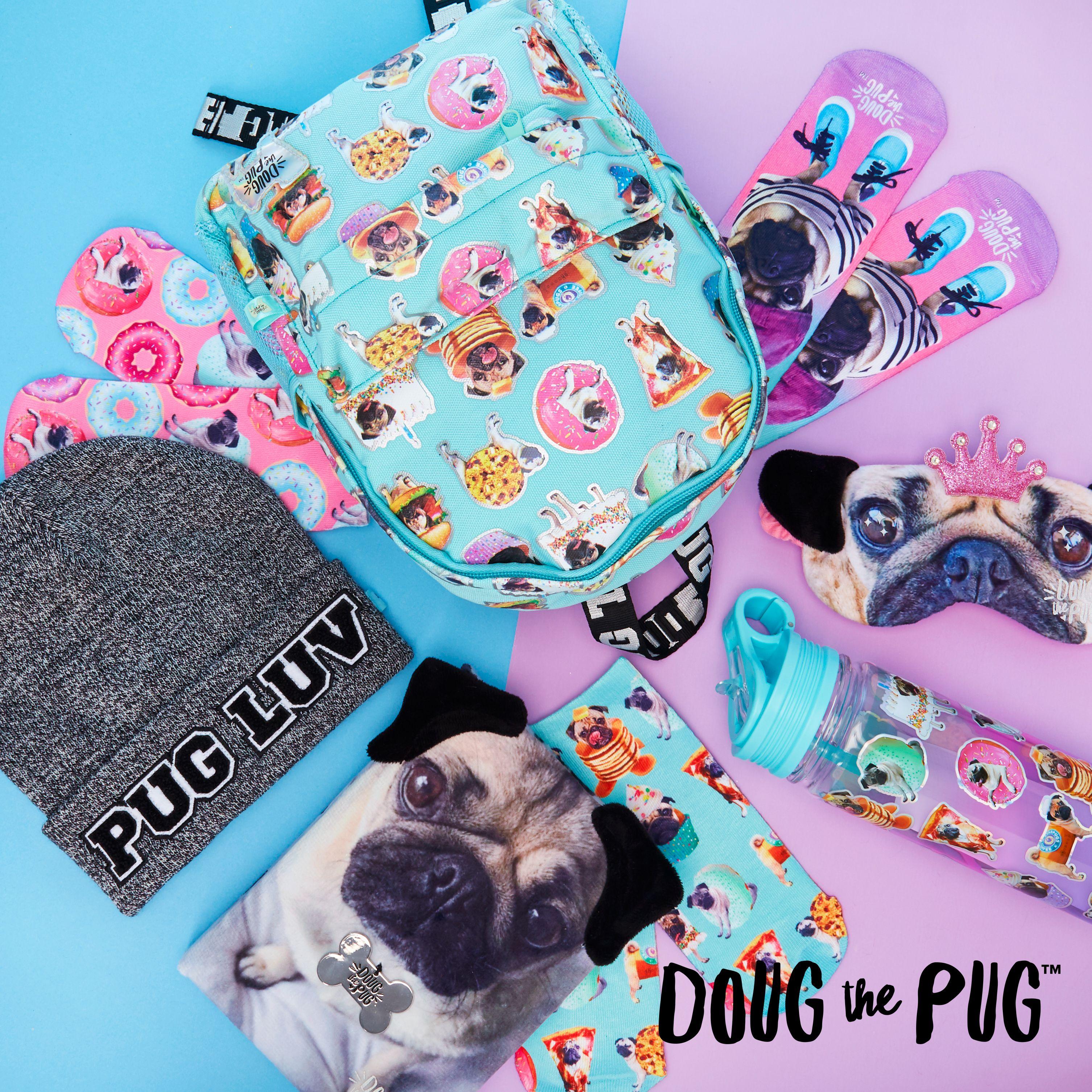 Pug in Glasses TM School Backpack