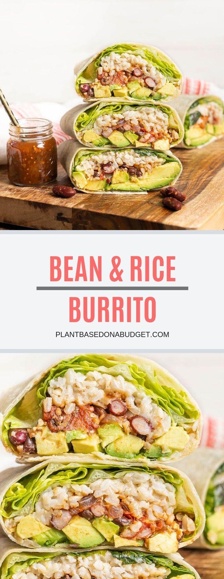 Photo of Bean and rice burrito. #vegan #veganrecipes #healthy #vegetarian #plantbased