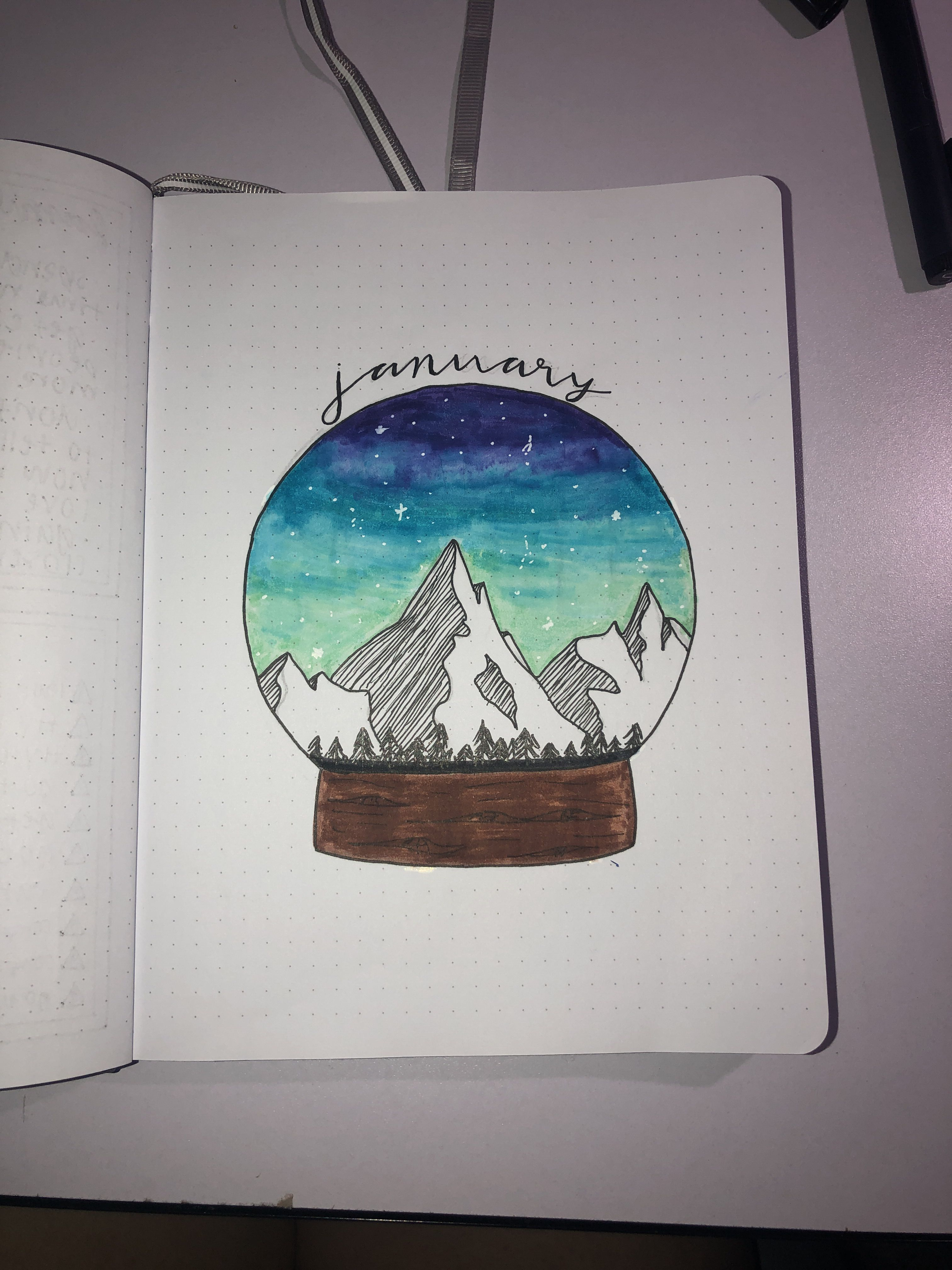 Welcome To January Skulleyart Notebooktherapy J O U R N A L S