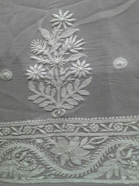 Lucknowi Chikan [*Sfq*] | handicraft | Embroidery motifs ...