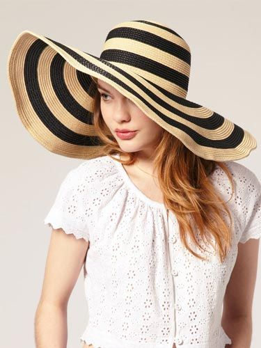 Floppy and Striped. This hat is too freakin' cute—the stripes are right on-trend and the wide brim gives you extra sun protection. #hat