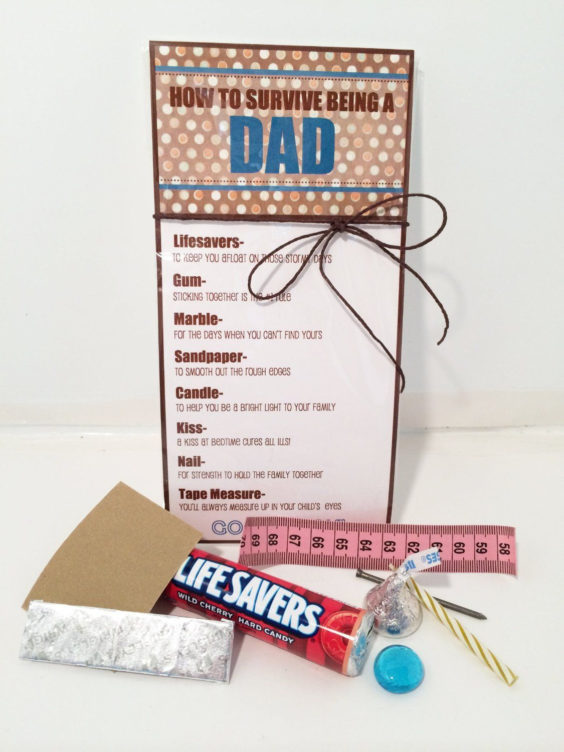 Fathers day interactive greeting card survival kit