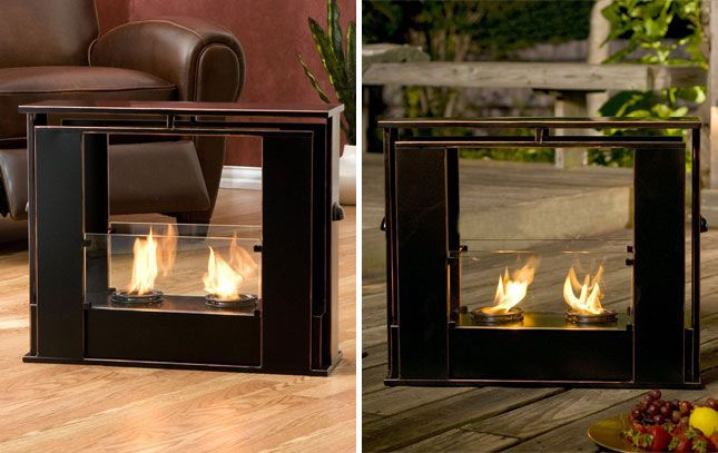 10 Portable Fireplaces for Petite Places | Portable fireplace ...