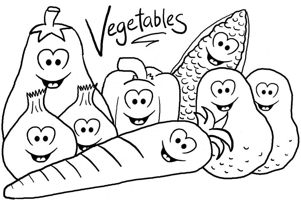 Coloring Rocks Vegetable Coloring Pages Food Coloring Pages Coloring Pages For Kids